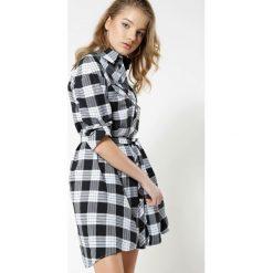 Sukienki hiszpanki: Czarno-Biała Sukienka Monochrome