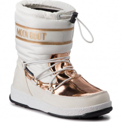 Śniegowce MOON BOOT - W.E. Jr Girl Soft Wp 34051700002 White. Białe śniegowce damskie Moon Boot, z materiału. Za 389,00 zł.