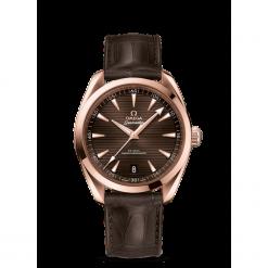 ZEGAREK OMEGA Seamaster 220.53.41.21.13.001. Brązowe zegarki męskie OMEGA, szklane. Za 61800,00 zł.