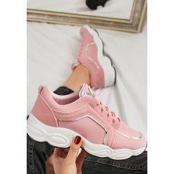 Różowe Sneakersy Long Run. Szare sneakersy damskie marki other, z materiału. Za 89,99 zł.