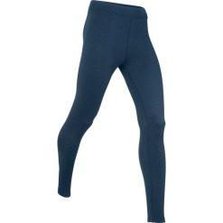 Legginsy termoaktywne sportowe, długie, LEVEL 3 bonprix ciemnoniebieski melanż. Niebieskie legginsy we wzory bonprix. Za 74,99 zł.