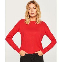 Sweter z dekoltem w łódkę - Czerwony. Czerwone swetry klasyczne damskie Reserved, l, z dekoltem w łódkę. Za 59,99 zł.