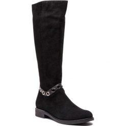 Oficerki NESSI - 18400 Czarny 19. Czarne buty zimowe damskie Nessi, z materiału, na obcasie. Za 459,00 zł.