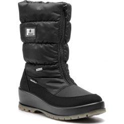 Śniegowce MANITU - 991222 Schwarz 1. Czarne buty zimowe damskie Manitu, z materiału, na niskim obcasie. Za 419,00 zł.