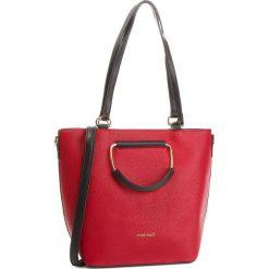 Torebka MONNARI - BAG9910-005 Red. Brązowe torebki klasyczne damskie marki Monnari, w paski, z materiału, średnie. W wyprzedaży za 199,00 zł.