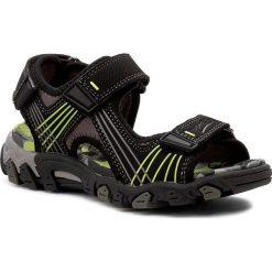 Sandały męskie skórzane: Sandały SUPERFIT – 0-00100-01 M Schwarz