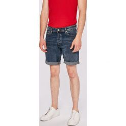Jack & Jones - Szorty. Czarne spodenki jeansowe męskie marki Jack & Jones, l, z okrągłym kołnierzem. W wyprzedaży za 89,90 zł.