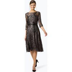 Comma - Damska sukienka wieczorowa, szary. Szare sukienki balowe marki comma, w koronkowe wzory, z koronki. Za 599,95 zł.