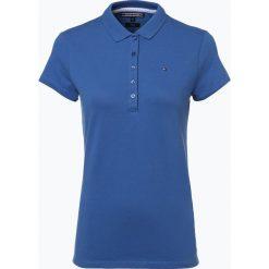 Tommy Hilfiger - Damska koszulka polo – New Chiara, niebieski. Niebieskie bluzki sportowe damskie TOMMY HILFIGER, s, z bawełny, polo. Za 199,95 zł.