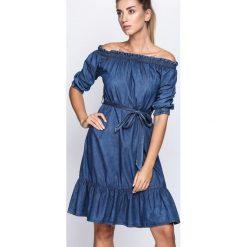 Granatowa Sukienka Closed Eyes. Niebieskie sukienki Born2be, na jesień, z jeansu. Za 84,99 zł.