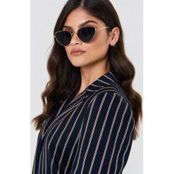 Okulary przeciwsłoneczne damskie aviatory: NA-KD Accessories Okulary przeciwsłoneczne Cat Eye – Black