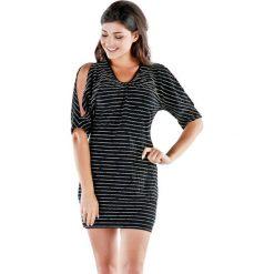 Sukienki hiszpanki: Sukienka w kolorze czarno-złotym