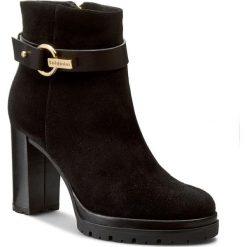 Botki BALDININI - 749818PCRBG00 R Tron.D.Crosta/Bulgaro Nero. Czarne buty zimowe damskie Baldinini, ze skóry, na obcasie. W wyprzedaży za 1269,00 zł.