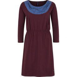 """Sukienki hiszpanki: Sukienka """"Anne"""" w kolorze ciemnofioletowo-niebieskim"""