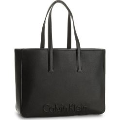 Shopper bag damskie: Torebka CALVIN KLEIN BLACK LABEL – Edge Large Shopper K60K603991 001
