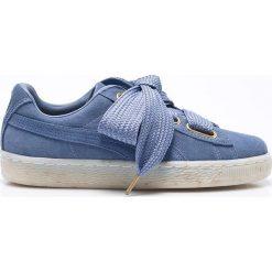 Puma - Buty Suede Heart Celebrate Wn's. Niebieskie buty sportowe damskie Puma, z materiału. W wyprzedaży za 299,90 zł.