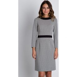 Sukienki: Czarno-biała sukienka z kołnierzykiem BIALCON