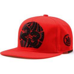 Czapka męska snapback czerwona (hx0186). Czerwone czapki z daszkiem męskie marki Dstreet, z haftami, eleganckie. Za 69,99 zł.