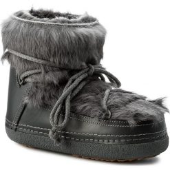 Buty INUIKII - Babbit 10215 Dark Grey. Szare buty zimowe damskie Inuikii, z futra, na niskim obcasie. W wyprzedaży za 949,00 zł.