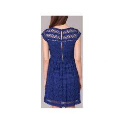 Sukienki krótkie Vila  VIKANIA. Niebieskie sukienki mini marki Vila, m, z krótkim rękawem. Za 159,20 zł.