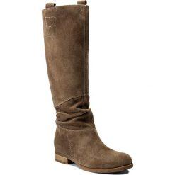 Kozaki WOJAS - 7741-64 Beż. Czarne buty zimowe damskie marki Wojas, z materiału, z okrągłym noskiem. Za 549,00 zł.