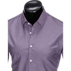KOSZULA MĘSKA ELEGANCKA Z DŁUGIM RĘKAWEM K424 - FIOLETOWA. Fioletowe koszule męskie marki Reserved, l, z bawełny. Za 49,00 zł.