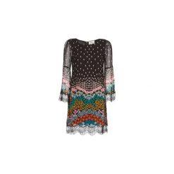 Sukienki krótkie Derhy  PALISSY. Czarne sukienki hiszpanki Derhy, l, z krótkim rękawem, mini. Za 391,20 zł.