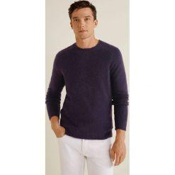 Mango Man - Sweter Bulky. Szare swetry klasyczne męskie Mango Man, l, z dzianiny, z okrągłym kołnierzem. Za 199,90 zł.