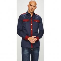 Calvin Klein - Koszula. Czarne koszule męskie na spinki Calvin Klein, l, z bawełny, z klasycznym kołnierzykiem, z długim rękawem. Za 449,90 zł.