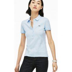 Lacoste PF7845 Koszulka polo light blue. Niebieskie t-shirty damskie Lacoste, z bawełny, polo. Za 379,00 zł.