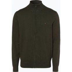 Tommy Hilfiger - Kardigan męski, zielony. Czarne swetry rozpinane męskie marki TOMMY HILFIGER, l, z dzianiny. Za 379,95 zł.