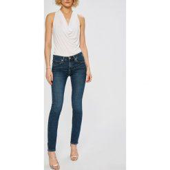 Calvin Klein Jeans - Jeansy Body. Niebieskie jeansy damskie rurki Calvin Klein Jeans, z bawełny, z obniżonym stanem. Za 399,90 zł.