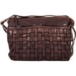 Skórzana torebka w kolorze brązowym - 25 x 17 x 8 cm. Brązowe torebki klasyczne damskie neropantera, w paski, z materiału. W wyprzedaży za 318,95 zł.