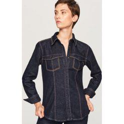 Jeansowa koszula - Granatowy. Białe koszule jeansowe damskie marki Reserved, l. Za 139,99 zł.