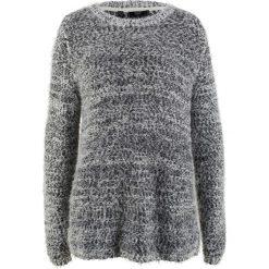 Swetry klasyczne damskie: Sweter, długi rękaw bonprix czarno-biel wełny