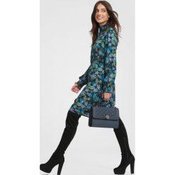 Czarno-Niebieska SukienkaIt's My Life. Czarne sukienki marki other, l, z koszulowym kołnierzykiem, koszulowe. Za 99,99 zł.
