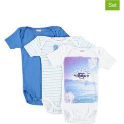 Body niemowlęce: Body (3 szt.) w kolorze niebieskim i białym