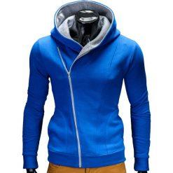 Bluzy męskie: BLUZA MĘSKA ROZPINANA Z KAPTUREM PRIMO – NIEBIESKO/SZARA