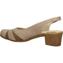 CZÓŁENKA GALANT 1482. Brązowe buty ślubne damskie Casu, na koturnie. Za 149,99 zł.