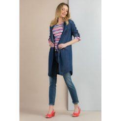 Tuniki damskie z długim rękawem: Jeansowa tunika z kieszeniami