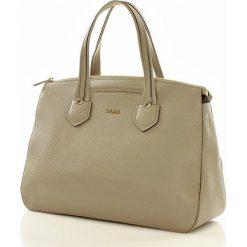 Oryginalna torebka kuferek italian bag FURLA GIADA SABBIA. Brązowe kuferki damskie Furla, w paski. Za 1199,00 zł.