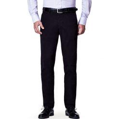Spodnie Czarne Chino Mono. Czarne chinosy męskie LANCERTO, w kolorowe wzory, z bawełny. Za 299,90 zł.