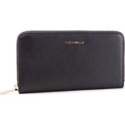 Duży Portfel Damski COCCINELLE - DW1 Metallic Saffiano E2 DW1 11 04 01 Noir 001. Czarne portfele damskie marki Coccinelle. Za 599,90 zł.