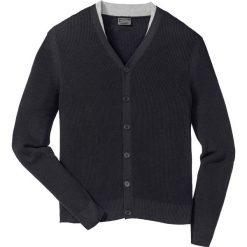 Sweter rozpinany Regular Fit bonprix czarny. Czarne kardigany męskie marki bonprix, l. Za 89,99 zł.