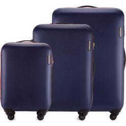 Zestaw walizek 56-3-61S-90. Niebieskie walizki marki Wittchen, z gumy, duże. Za 694,71 zł.