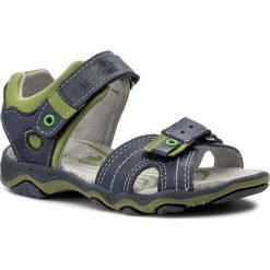 Sandały RENBUT - 21-3258 Jeans/Zielony. Niebieskie sandały męskie skórzane marki RenBut. W wyprzedaży za 99,00 zł.