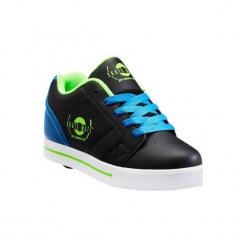 Buty na kółkach SKATE-MATE z jednym kółkiem. Czarne buty do biegania damskie marki Kazar, z nubiku, przed kolano, na wysokim obcasie. Za 219,99 zł.