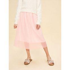 Spódnica w drobne plisy - Różowy. Czerwone spódniczki dziewczęce Reserved. W wyprzedaży za 39,99 zł.