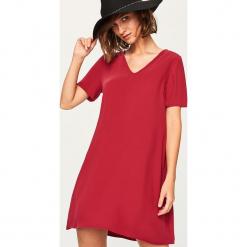 Sukienka mini - Bordowy. Fioletowe sukienki mini marki Reserved. Za 69,99 zł.