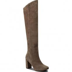 Kozaki ROBERTO - 589 Cappucino. Brązowe buty zimowe damskie Roberto, ze skóry, na obcasie. W wyprzedaży za 299,00 zł.